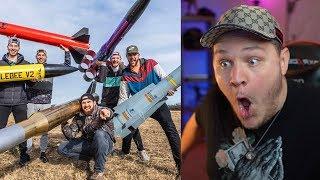 Model Rocket Battle 2   Dude Perfect - Reaction