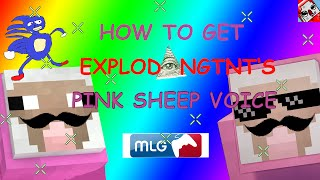 "How To Get ExplodingTnT's Pink Sheep Voice ""WITHOUT ODDCAST"" Text-to-speech Tutorial"