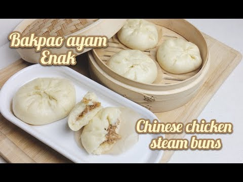 Bakpao Ayam Enak Dan Empuk | Chinese Chicken Steam Buns | Tasty And Yummy Food