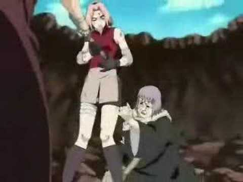 What song plays when Naruto and Sakura are standing at