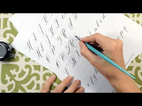 How to Create and Learn Modern Calligraphy - A Guide for Beginners + Free Worksheet