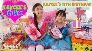 KAYCEES GIFT OPENING Kaycees 11th Birthday