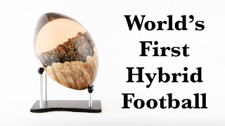 #50 Woodturning - The World's First Hybrid Football 🏈
