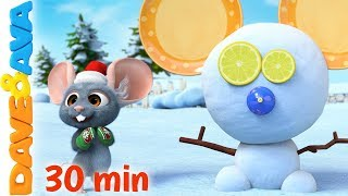 ⛄️ Roll, Roll, Roll the Ball  | Christmas Songs for Kids | Christmas Time with Dave and Ava ⛄️
