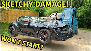 Rebuilding A Wrecked 2020 Toyota Supra!!!