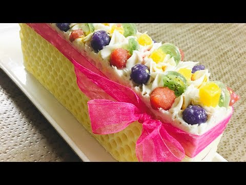 The Making And Cutting of Lemonberry Cold Process Soap Cake