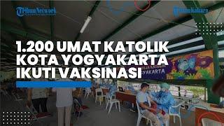 1.200 Umat Katolik Kota Yogyakarta Antusiasi Ikuti Vaksinasi Covid-19 di GL Zoo