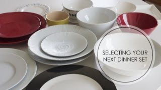 Tips For Selecting Your Next Dinner Set