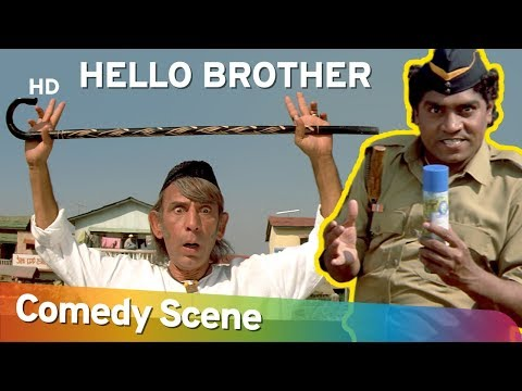 Hello Brother - Jhonny Lever - Best Comedy Scene - (जॉनी लीवर हिट कॉमेडी)- Shemaroo Bollywood Comedy (видео)
