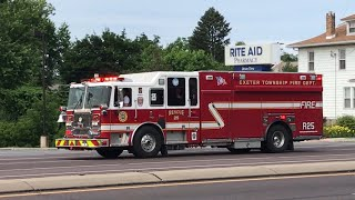 Exeter Twp Fire Department Rescue Engine, Engine Tanker, Rescue 25 and Medic 2525 Responding