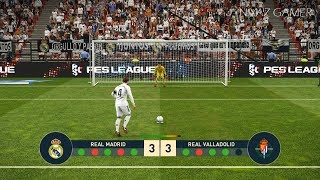 REAL MADRID vs VALLADOLID | Penalty Shootout | PES 2019 Gameplay PC