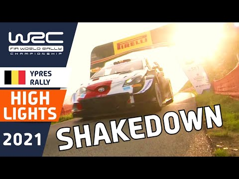 WRC第8戦 ラリー・ベルギー シェイクダウンのハイライト動画