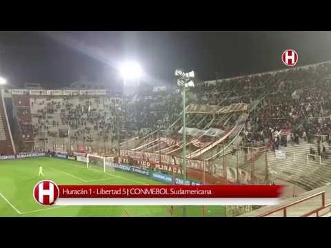 """""""Huracán 1 vs Libertad 5 - CONMEBOL Sudamericana - Quemerizados"""" Barra: La Banda de la Quema • Club: Huracán"""
