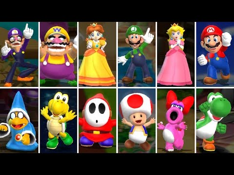 Mario Party 9 - All Playable Characters