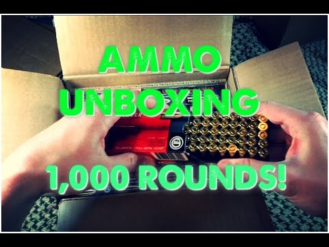 Video Unboxing 1000 Rounds of 9mm Ammo - Buying Bulk Ammo Online is Easy!