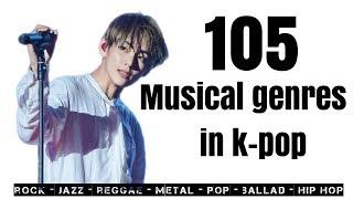105 musical genres used in k pop