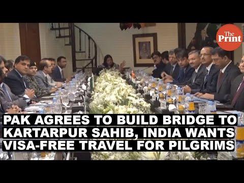 Pak agrees to build bridge to Kartarpur Sahib, India wants visa-free travel for pilgrims