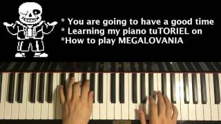 HOW TO PLAY - UNDERTALE - MEGALOVANIA (Piano TuTORIEL)