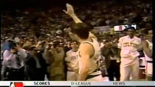 John Havlicek's (29pts/8asts/4rebs) Last Game
