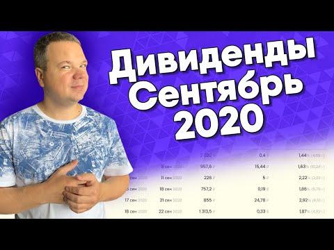 ДИВИДЕНДЫ - СЕНТЯБРЬ 2020. Осенние дивидендные выплаты