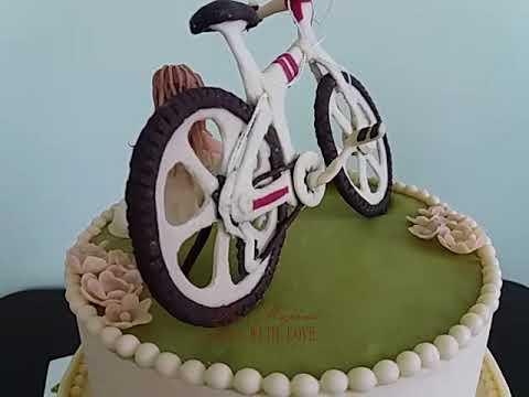 Идея торта с велосипедом