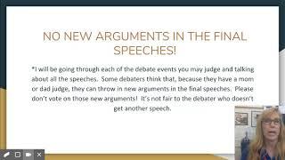 How to Judge High School Debate and Congress