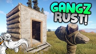 "GangZ Rust Gameplay - ""DEADLY DEER & OUT OF TUNE GUITARS!!!"" - Rust PvP Multiplayer Ep 0"