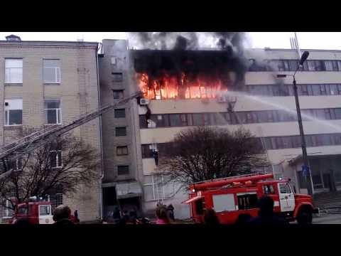 Пожар на Хартроне (тяжелое видео без купюр)