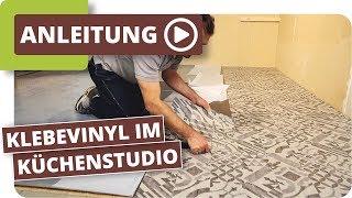 Klebevinyl im Küchenstudio - Bodenbeläge für den Objektbereich schnell und einfach verlegen