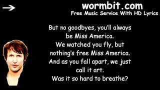 James Blunt - Miss America  [LYRICS]