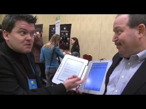 CES 2010 video - enTourage eDGe beyond ebook readers