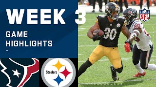 Texans vs. Steelers Week 3 Highlights | NFL 2020