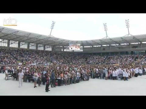 Les pèlerins au Festival des nations de Lublin
