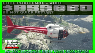 GTA 5 Pacific Standard Heist Glitch With Helicopter (NEW METHOD)