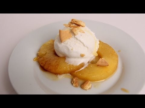 Roasted Pineapple Sundae Recipe – Laura Vitale – Laura in the Kitchen Episode 360