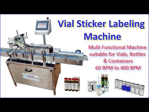 Automatic Vial & Bottle Labeling Machine