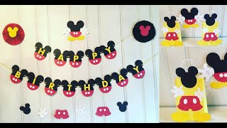 MICKEY MOUSE BIRTHDAY DECORATIONS (DO IT YOURSELF)