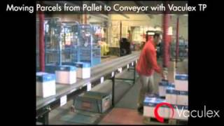 Moving Parcels from Pallet to Conveyor with Vaculex TP