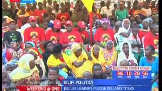 Jubilee leaders pledge on land titles, Kilifi Politics