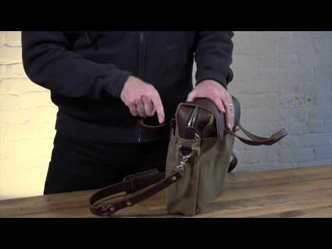 Classic Leather & Canvas Laptop Briefcase Video