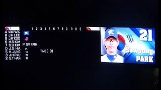 2017.11.19日本vs韓国韓国代表全選手紹介&スタメン発表アジアプロ野球チャンピオンシップ2017決勝