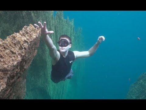 Falling Off An Underwater Cliff