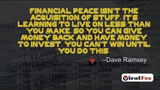 Financial Peace Isn`t The Acquisition Of Stuff Quote By Dave Ramsey | Viralfex