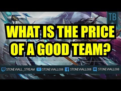 What Is The Price Of A Good Team?