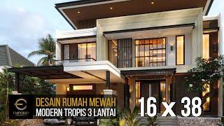 Video Desain Rumah Modern 3 Lantai Ibu Melisa di  Sentul, Bogor, Jawa Barat