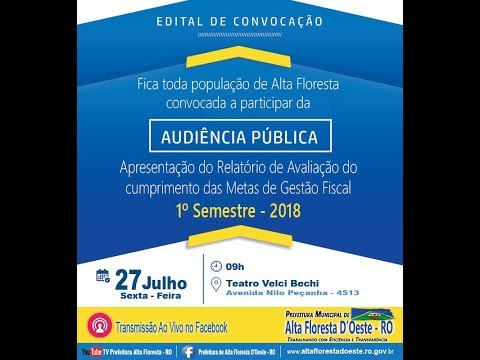 Audiência Pública 1º Semestre 2018