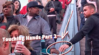 HAND TOUCHING ON ESCALATOR PRANK IN LAS VEGAS! | PART 2