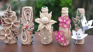 DIY 7 Jute Burlap Bottle Decoration Ideas || Handmade Home Decorating Ideas Easy
