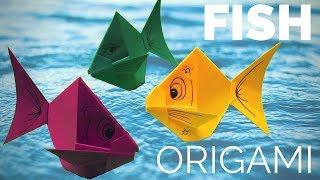 """В этом видео я покажу как сделать оригами Золотую рыбку. Как сделать базовую форму """"Треугольник"""" смотри на моем канале, ссылка"""