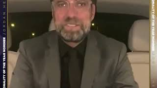 Jurgen Klopp reveals his VOTE for Sports Personality Of The Year.(SPOTY)